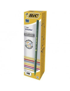 Creion grafit BIC Evolution STRIPES 646, 12 buc/cutie