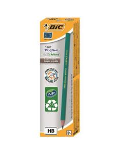 Creion grafit BIC Evolution FLUO, 12 buc/cutie