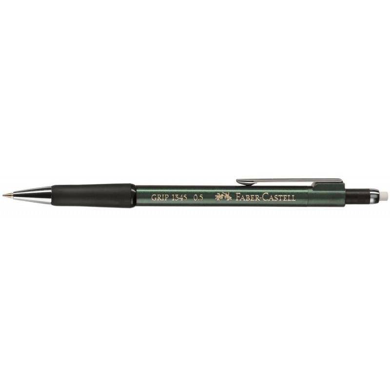 Creion Mecanic Faber-Castell 0.5 mm Grip 1345 - Verde Metalizat