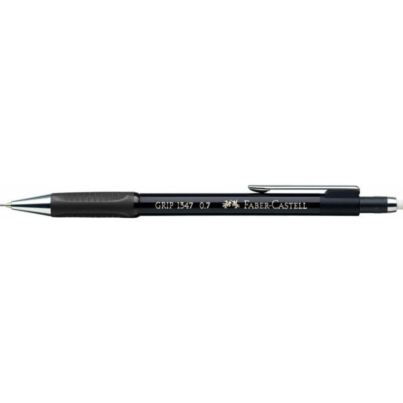 Creion Mecanic Faber-Castell 0.7 mm Grip 1347 - Negru