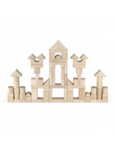 Set cuburi de construit Jumbo, 75 buc natur 3,5 cm, Viga