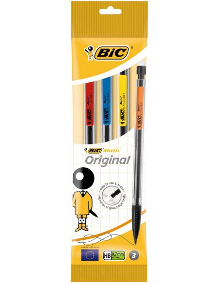 Creion mecanic BIC Matic Classic, 0.7 mm, 3 buc
