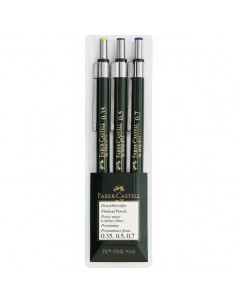 Set 3 Creioane Mecanice Tk-Fine Faber-Castell 0.35 / 0.5 / 0.7