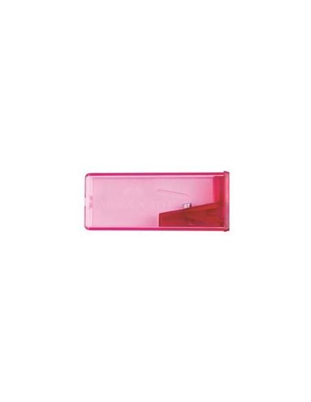 Ascutitoare Faber-Castell Plastic Cu Container fluorescenta