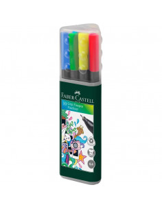 Liner 0.4 mm Grip Set Faber-Castell Set 10 buc