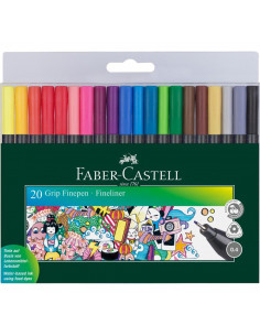 Liner 0.4 mm Grip Set Faber-Castell Set 20 buc