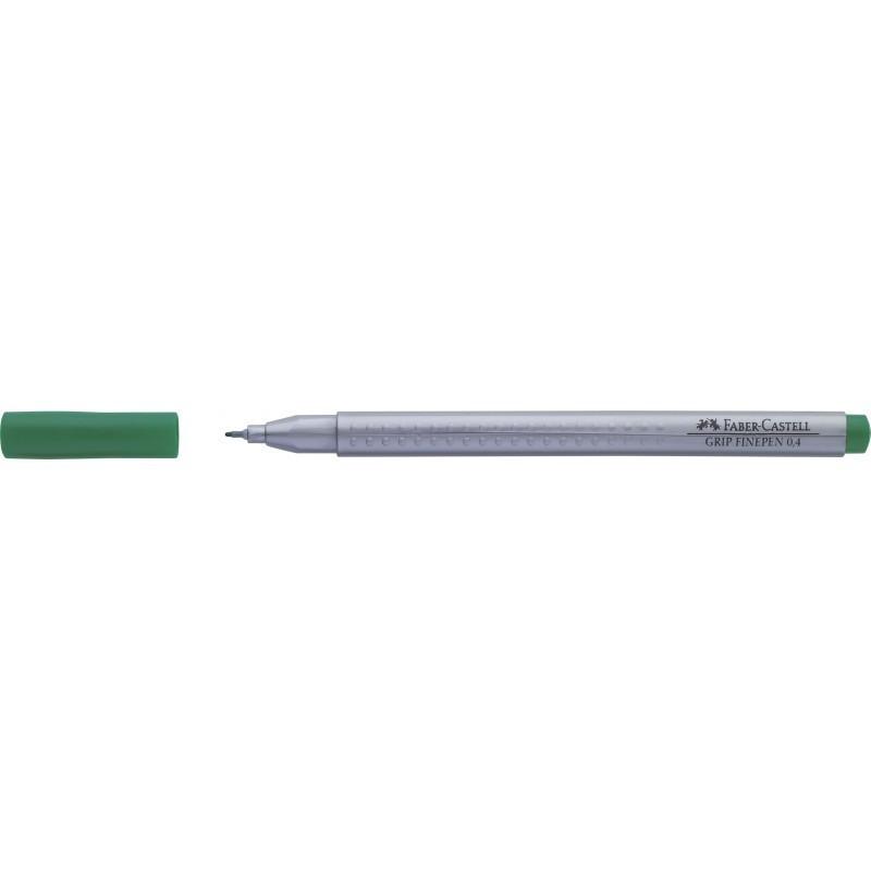 Liner 0.4 mm Grip Faber-Castell Verde