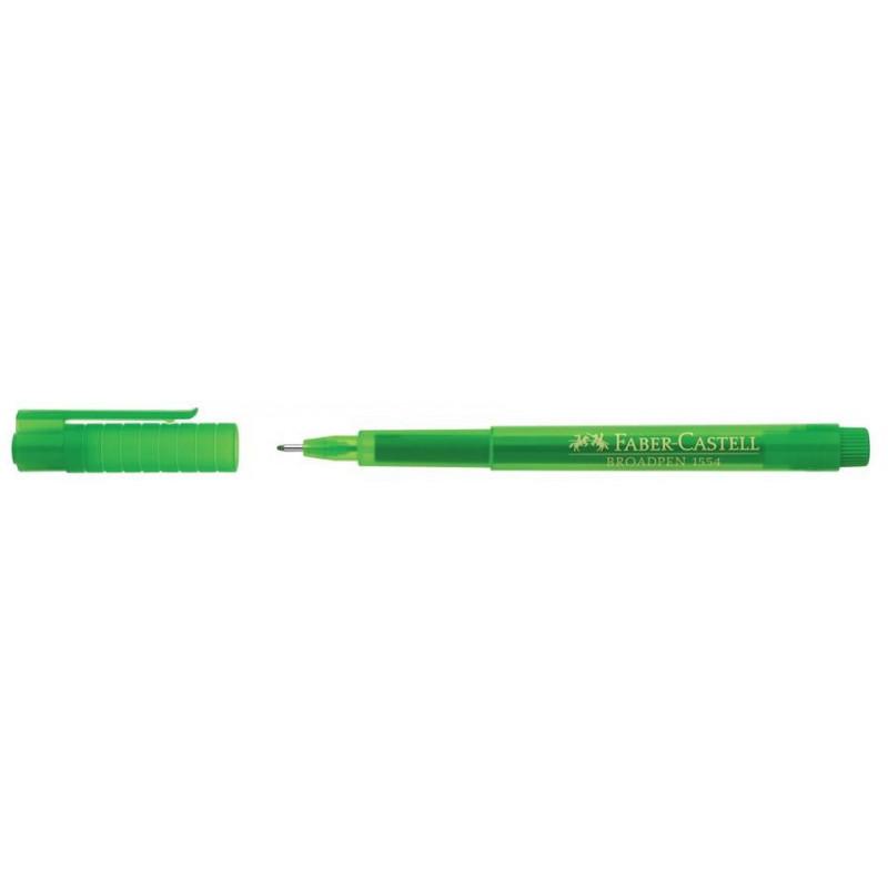 Liner 0.8 mm Broadpen 1554 Faber-Castell Verde
