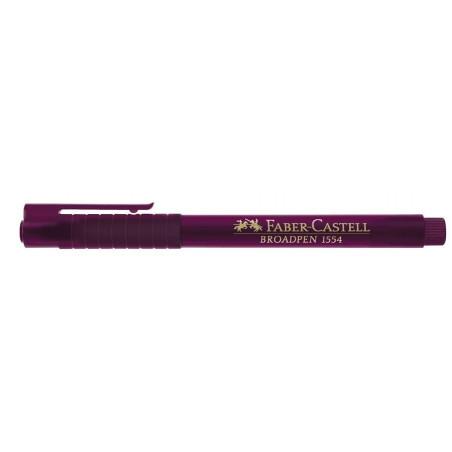 Liner 0.8 mm Broadpen 1554 Faber-Castell Magenta