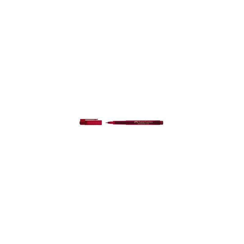 Liner 0.8 mm Broadpen 1554 Faber-Castell Rosu
