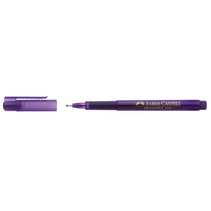 Liner 0.8 mm Broadpen 1554 Faber-Castell Violet