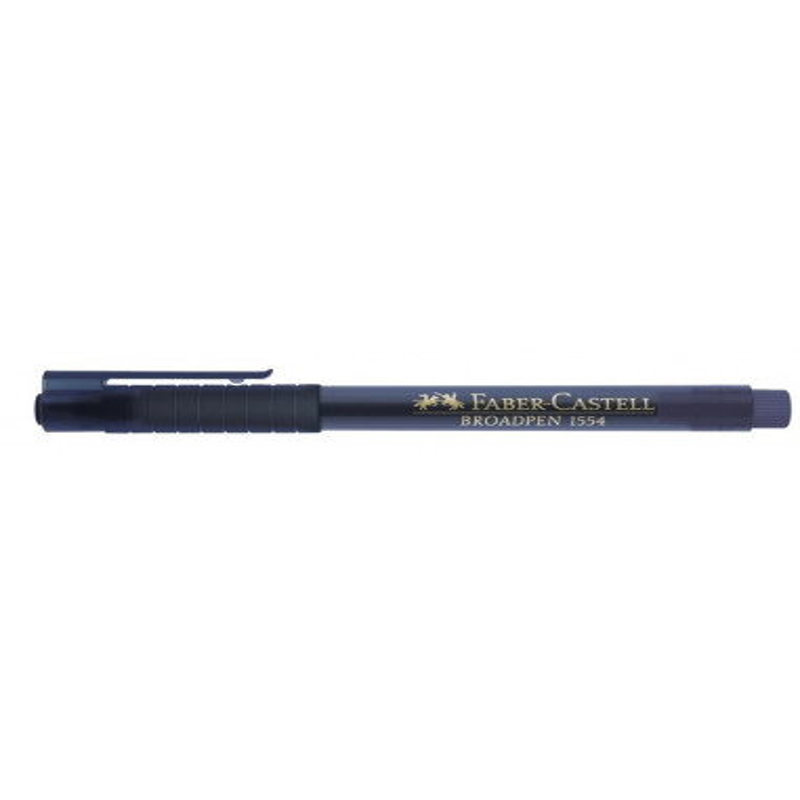 Liner 0.8 mm Broadpen 1554 Faber-Castell Albastru Inchis