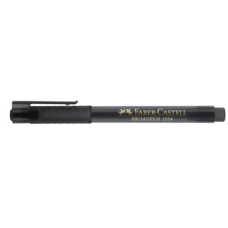 Liner 0.8 mm Broadpen 1554 Faber-Castell Gri