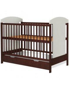 Patut copii din lemn Hubners Kamilla 120x60 cm venghe cu sertar