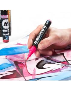 Marker AQUA INK Molotow cu vârf tip pensulă Main-Kit 1, 12 buc.
