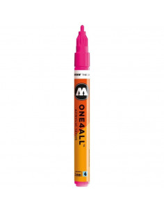 Marker acrilic Molotow ONE4ALL™ 127HS, 2 mm, neon pink fluorescent