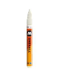 Marker acrilic Molotow ONE4ALL™ 127HS, 2 mm, nature white