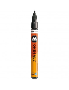 Marker acrilic Molotow ONE4ALL™ 127HS, 2 mm, metallic black