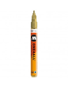 Marker acrilic Molotow ONE4ALL™ 127HS, 2 mm, metallic gold