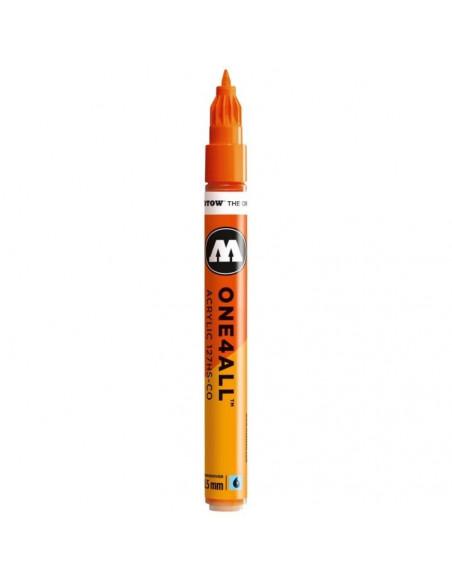 Marker acrilic Molotow ONE4ALL™127HS-CO, 1.5 mm, DARE orange