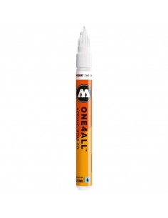 Marker acrilic Molotow ONE4ALL™127HS-CO, 1.5 mm, signal white