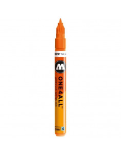 Marker acrilic Molotow ONE4ALL™127HS-CO, 1.5 mm, neon orange fluorescent