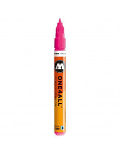 Marker acrilic Molotow ONE4ALL™127HS-CO, 1.5 mm, neon pink fluorescent