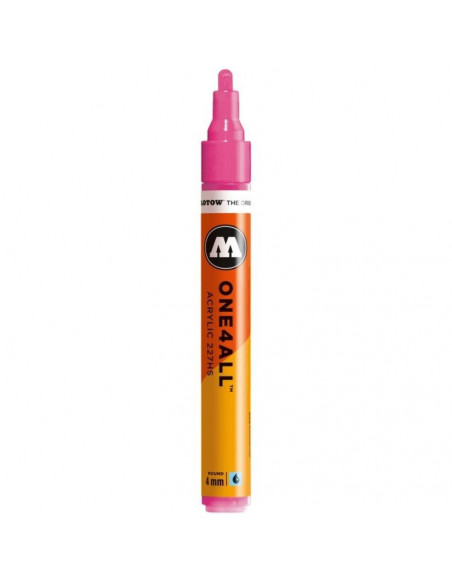 Marker acrilic Molotow ONE4ALL™ 227HS, 4 mm, neon pink