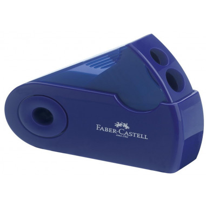 Ascutitoare Faber-Castell Plastic Dubla Sleeve Verde, Albastru