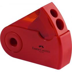 Ascutitoare Faber-Castell Plastic Dubla Sleeve Verde, Rosu