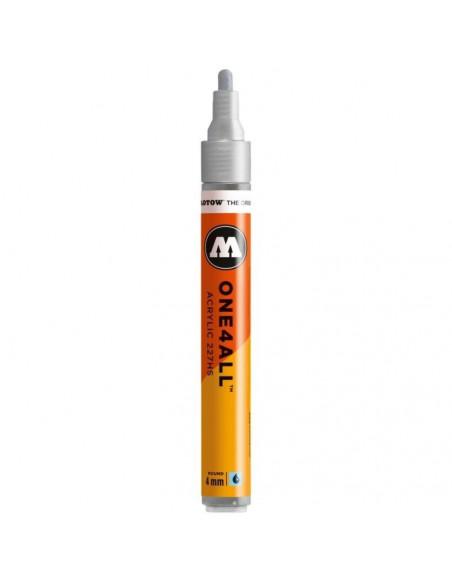 Marker acrilic Molotow ONE4ALL™ 227HS, 4 mm, metallic silver