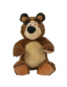 Jucarie de plus Simba Masha and the Bear, Bean Bag Bear 20 cm