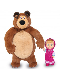 Set Simba Masha and The Bear papusa Masha 12 cm si ursulet de