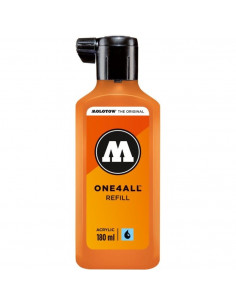 Rezervă Molotow One4All™, 180 Ml, Neon Orange Fluorescent