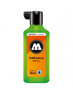 Rezervă Molotow One4All™, 180 Ml, Neon Green Fluorescent