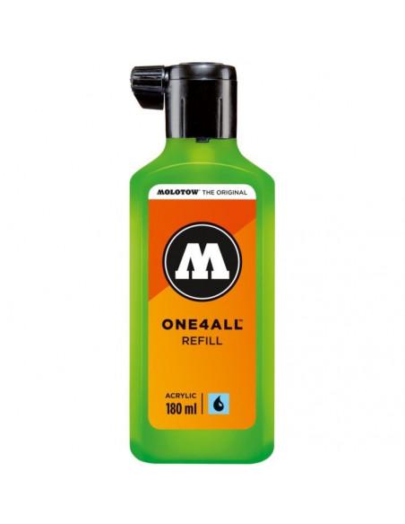 Rezervă Molotow One4All™, 180 Ml, Neon Green Fluorescent