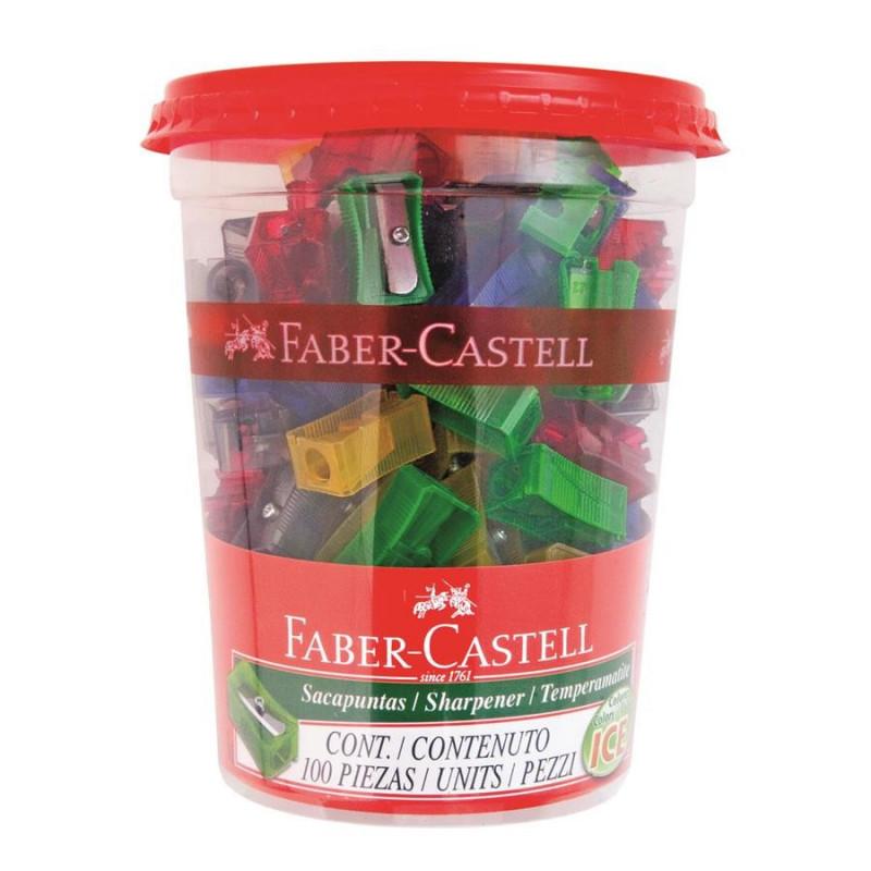 Ascutitoare Faber-Castell, Plastic, Simpla, 100 buc