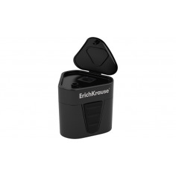Ascuțitoare din plastic cu rezervor Erich Krause 3-Touch, Negru