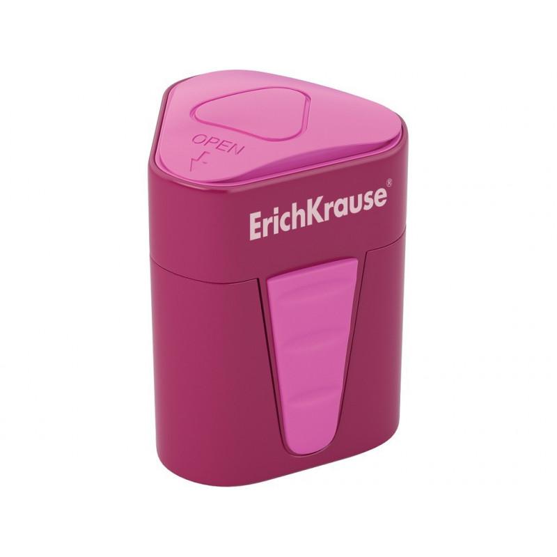 Ascuțitoare din plastic cu rezervor Erich Krause 3-Touch, Rosu
