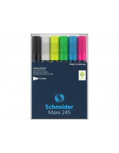 Marker Pentru Sticla Schneider Maxx 245, 6 Buc/Set