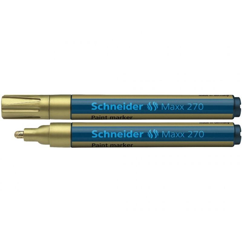 Marker Vopsea Schneider Maxx 270 1 - 3 mm Varf Rotund - Auriu