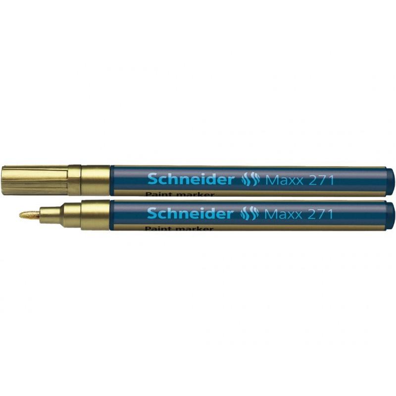 Marker Vopsea Schneider Maxx 271 1 - 2 mm Varf Rotund - Auriu