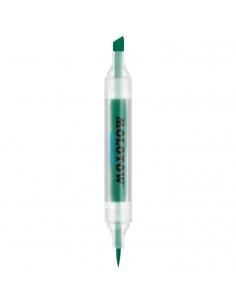 Marker Cu Vârf Dublu Molotow Aqua Twin, 1 Mm/2-6 Mm, Dark Green