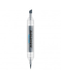 Marker Cu Vârf Dublu Molotow Aqua Twin, 1 Mm/2-6 Mm, Cool Grey 01