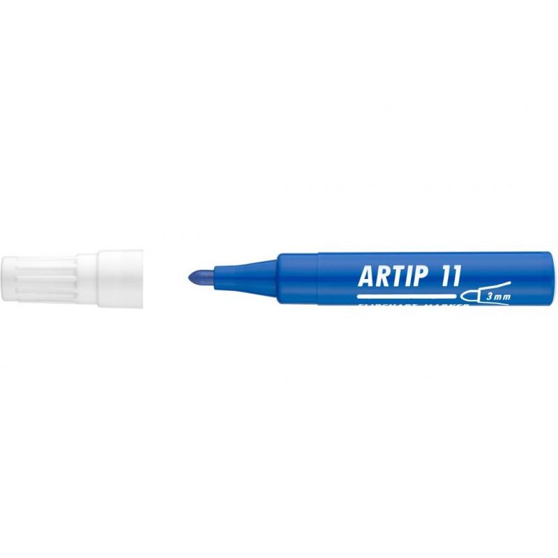 Marker Flipchart Ico Artip 11, 1 - 3 mm Varf Rotund - Albastru