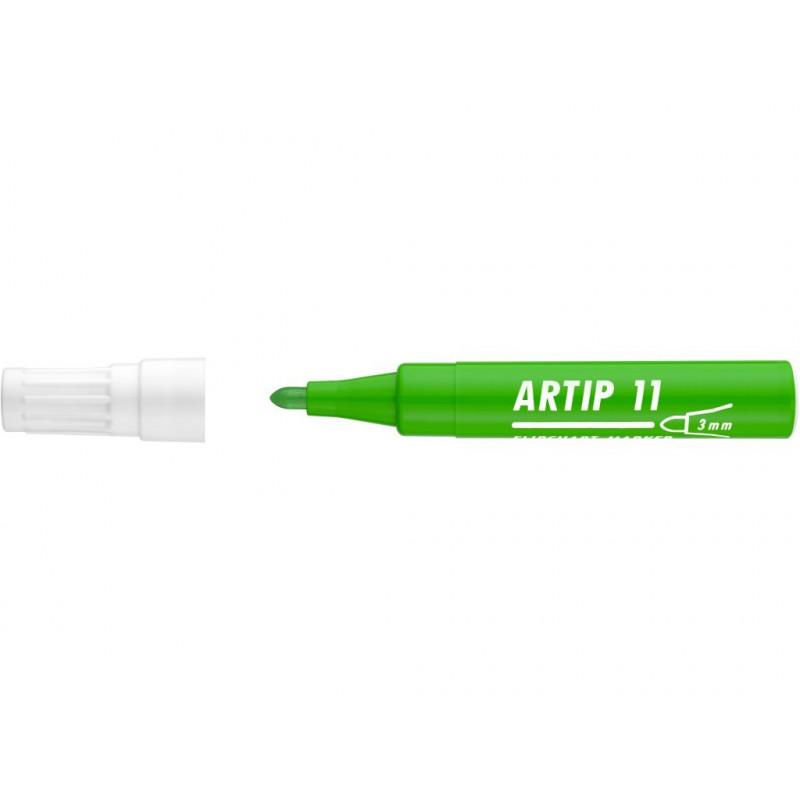 Marker Flipchart Ico Artip 11, 1 - 3 mm Varf Rotund - Verde