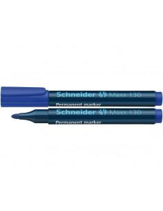 Marker Permanent Schneider Maxx 130 1 - 3 mm Varf Rotund - Albastru