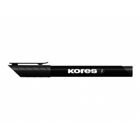 Marker Permanent Kores 3 mm Varf Rotund - Negru