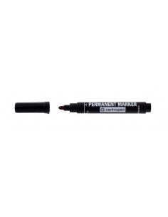 Marker Permanent Centropen 8566 2.5 mm Varf Rotund - Negru