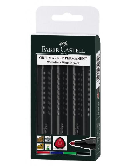 Marker Permanent Faber-Castell 1504 2 - 4 mm Varf Rotund - 4